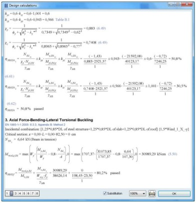 AxisVM calculation note