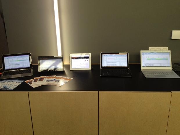 Deelnemers probeerden onze rekensoftware tijdens de studiedag